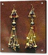 Earrings With Garnets Acrylic Print