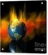 Earth And Oil Fire Acrylic Print