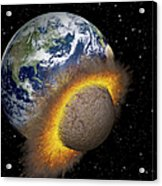 Earth Colliding With A Mars-sized Acrylic Print