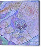 Earth In Hand Acrylic Print