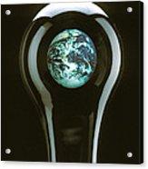 Earth In Light Bulb  Acrylic Print