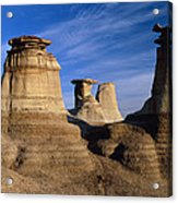 Earth Pillars (hoodoos) In Alberta Badlands Canada Acrylic Print