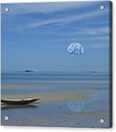 Earthrise Over The Sea Of Tranquility Acrylic Print