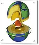 Earth's Internal Structure, Artwork Acrylic Print