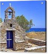 east coast Naxos Acrylic Print