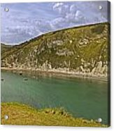East Lulworth Cove Panorama Acrylic Print