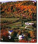 East Orange Village In Fall, Vermont Acrylic Print