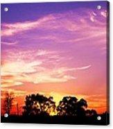 East Texas Sunset Acrylic Print