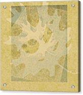Ecru Leaf Acrylic Print
