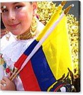 Ecuadorian Pride Acrylic Print