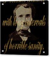 Edgar Allan Poe 2 Acrylic Print