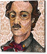Edgar Allan Poe After The Thompson Daguerreotype Acrylic Print by Nancy Mitchell