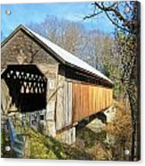 Edgell Covered Bridge Acrylic Print