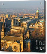 Edinburgh On A Winter's Day Acrylic Print by Christine Till