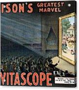 Edisons Vitascope, 1896 Acrylic Print