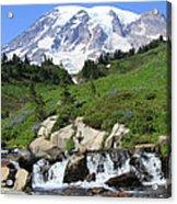 Edith Creek Mt Rainier Wa Acrylic Print