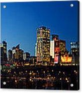 Edmonton Skyline Panorama 2 Acrylic Print