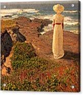 Edwardian Lady By The Sea Acrylic Print