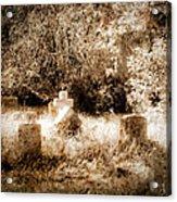 Eerie Cemetery Acrylic Print by Sonja Quintero