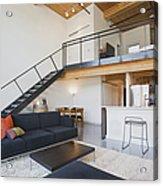 Efficiency Apartment Interior Acrylic Print by Ben Sandall