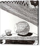 Egg Drawing 019613 Acrylic Print