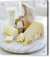 Eggs And Cheese Acrylic Print by David Munns