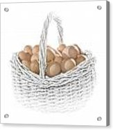 Eggs In A Woven Basket No.0064 Acrylic Print