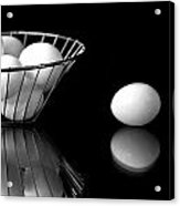 Eggs In Black And White Acrylic Print