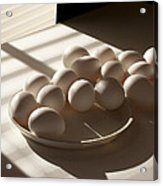 Eggs Lit Through Venetian Blinds Acrylic Print