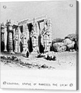 Egypt: Ramesseum Acrylic Print