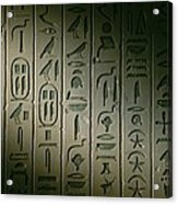 Egyptian Hieroglyphics Decorate Acrylic Print