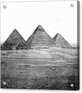 Egyptian Pyramids - C 1901 Acrylic Print