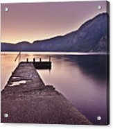 Eidfjord At Sunset Acrylic Print by Jesus Villalba