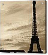 Eiffel At Sunset Acrylic Print
