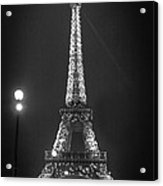 Eiffel By Night Acrylic Print