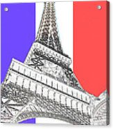 Eiffel De Gaul Acrylic Print