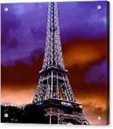 Eiffel Storm Acrylic Print