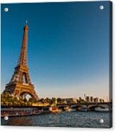 Eiffel Tower And Bridge Acrylic Print