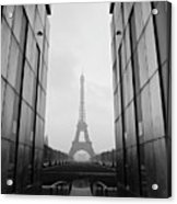 Eiffel Tower And Wall For Peace Acrylic Print by Cyril Couture @