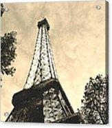 Eiffel Tower At Dusk Acrylic Print