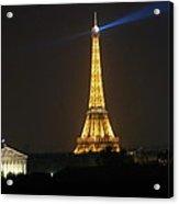 Eiffel Tower At Night Acrylic Print by Jennifer Ancker