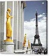 Eiffel Tower From Trocadero Acrylic Print by Elena Elisseeva