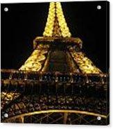Eiffel Tower In Lights Acrylic Print