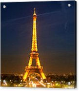 Eiffel Tower In The Night Acrylic Print
