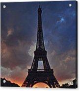 Eiffel Tower Sunset Acrylic Print