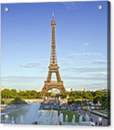 Eiffel Tower With Fontaines Acrylic Print