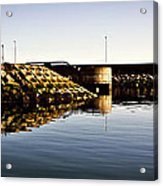 Eisenhower Pier Acrylic Print by Chris Cardwell