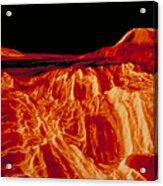 Eistla Regio Of Venus Acrylic Print
