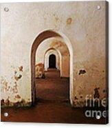 El Morro Fort Barracks Arched Doorways San Juan Puerto Rico Prints Acrylic Print
