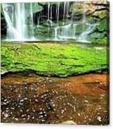 Elakala Falls Portrait Acrylic Print
